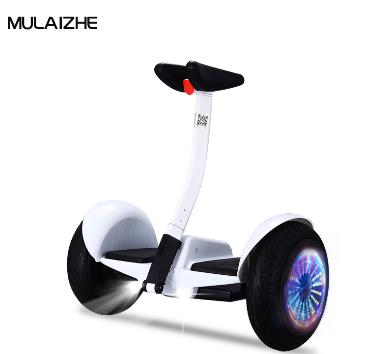 牧莱者智能体感平衡车APP蓝牙遥控腿控10寸双轮  白色